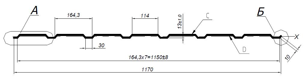Профнастил марки С-13