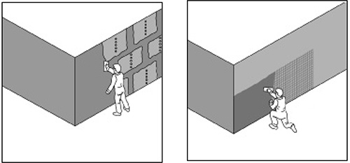 Нанесение базового штукатурного слоя